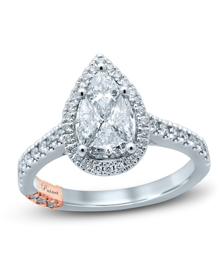 Jared The Galleria Of Jewelry Pnina Tornai All My Love With This Ring Diamond Engagement Ring 1-1/4 ct tw Pie/Round 14K Two-Tone Gold