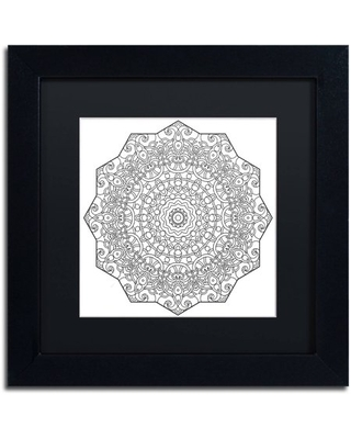 """Trademark Fine Art """"Mixed Coloring Book 28"""" Canvas Art by Kathy G. Ahrens, Black Matte, Black Frame"""