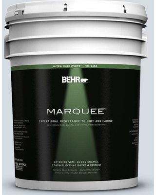 BEHR MARQUEE 5 gal. #610E-3 Drowsy Lavender Semi-Gloss Enamel Exterior Paint and Primer in One