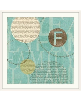 "Great Big Canvas 'Circle of Words - Family' by Veronique Charron Graphic Art Print 1051534_1 Size: 38"" H x 38"" W x 1"" D Format: White Framed"