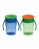 Wow Gear Baby Boys and Girls 7oz. 2 Pack Wow Cup - Blue
