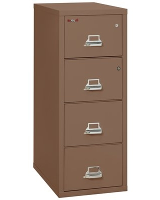 Legal Safe-In-A-File Fireproof 4-Drawer Vertical File Cabinet FireKing Color: Tan