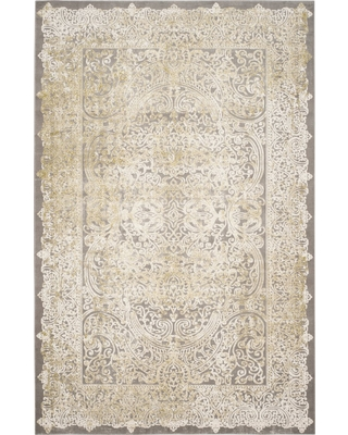 "Cairo Area Rug - Gray / Green (6'7"" X 9'2"" ) - Safavieh , Size: 6'7""X9'2"""