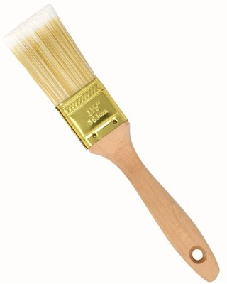 ALEKO Flat-Cut Polyester Paint Brush with Wooden Handle - 1.5 Inches