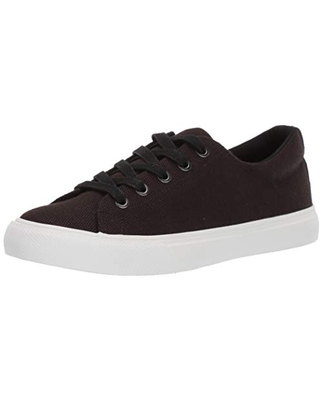 Amazon Brand - 206 Collective Women's Rhonda Casual Lace Up Sneaker, Black Canvas, 6.5 M US