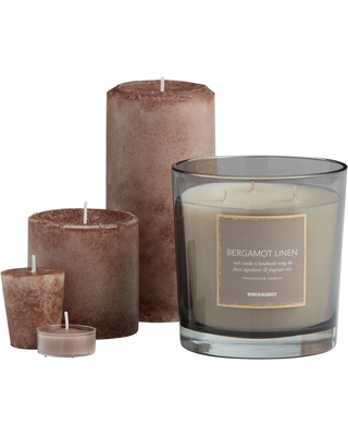 Bergamot Linen Scented Candle Collection by World Market