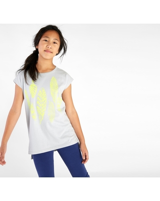 Tea Collection Neon Feather Graphic Tunic