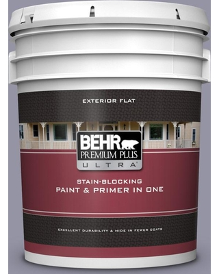 BEHR Premium Plus Ultra 5 gal. #640F-5 Ash Violet Flat Exterior Paint and Primer in One