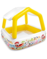 "Intex 4 ft x 5.2 ft x 5.2 ft Kiddie Pool, Resin in Yellow, Size 48""H X 62""W X 62""D 