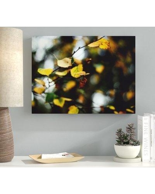 """Ebern Designs 'Blurred out (41)' Graphic Art Print on Canvas BF107237 Size: 12"""" H x 36"""" W x 2"""" D"""