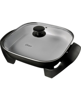 Oster Titanium Infused DuraCeramic 12 Square Electric Skillet - CKSTSKFM12-Teco