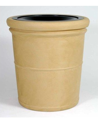 Allied Molded Products Palm Beach 35 Gallon Trash Can 7L3132T Color: Pure White Configuration: Trash and Ash
