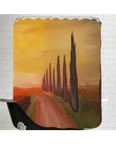Brayden Studio Markus Bleichner Country Road in Tuscany Italy at Sunset Shower Curtain BRSD7192