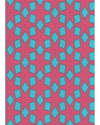 East Urban Home Patterned Pink/Blue Area Rug X111688999 Rug Size: Rectangle 2' x 3'