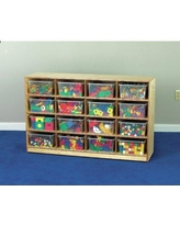 Childcraft 16 Compartment Cubby with Trays 206052 / 206056 Bin Color: Clear