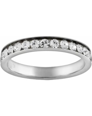 Hot Sale  Silver Plated Simulated Crystal Eternity Ring 771d251a2f
