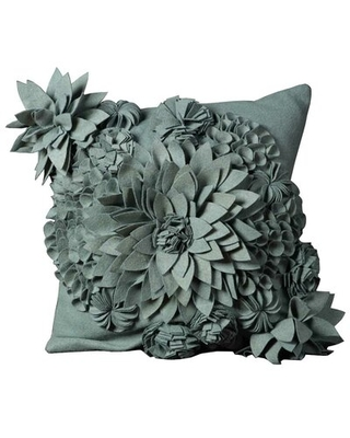 Find The Best Deals On Whitmore Wool Throw Pillow Latitude Run Color Sky Blue