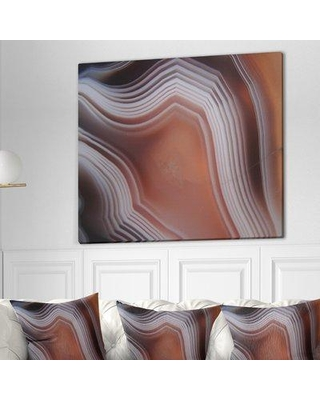 "East Urban Home Stone 'Agate Texture' Graphic Art Print on Wrapped Canvas ETUC0348 Size: 30"" H x 40"" W x 1.5"" D"