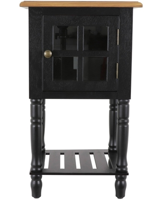 James Window Storage Side Table Black - Décor Therapy