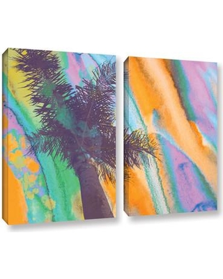 "Latitude Run California Sunset 2 2 Piece Painting Print on Wrapped Canvas Set LTRN5157 Size: 18"" H x 24"" W x 2"" D"