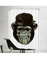 East Urban Home Hipster Monkey Ape Animal Shower Curtain ESRB1085
