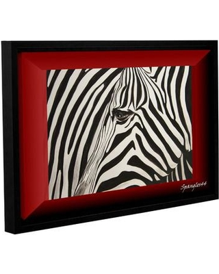 "ArtWall Zebras Abstract by Lindsey Janich Framed Painting Print on Wrapped Canvas 0jan057a Size: 8"" H 12"" W"
