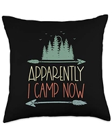 Matching Family Camping Gifts Retro Arrow New Camper Owners First Time Camping Gear Child Throw Pillow, 18x18, Multicolor