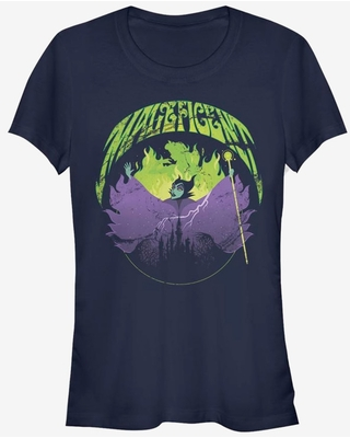 Disney Maleficent Maleficent Castle Flame Outline Girls T-Shirt