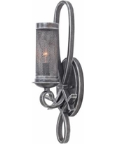 "Delancey 19"" High Vintage Iron Mesh Wall Sconce"