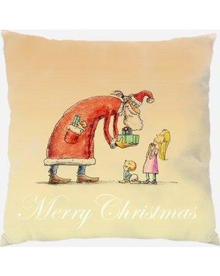 The Holiday Aisle Dover Christmas Card Indoor/Outdoor Canvas Throw Pillow W000064072