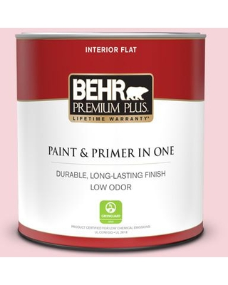 BEHR PREMIUM PLUS 1 qt. #120A-3 Lovelight Flat Low Odor Interior Paint and Primer in One