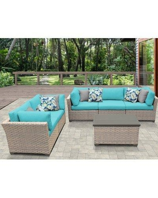 Sol 72 Outdoor™ Rochford 6 Piece Sofa Seating Group with Cushions X112678473 Cushion Color: Aruba