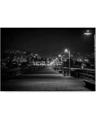 "Winston Porter 'Lonely Pier' Photographic Print on Wrapped Canvas WNPO2755 Size: 22"" H x 32"" W x 2"" D"