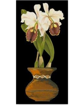 """World Menagerie 'Orchid in Pot II' Acrylic Painting Print on Wrapped Canvas WRME2524 Size: 19"""" H x 10"""" W x 2"""" D"""