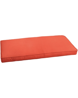 """Sunbrella Melon Orange Indoor/ Outdoor Bench Cushion 37"""" to 48"""" by Humble + Haute (47.5 in w x 18 in d)"""