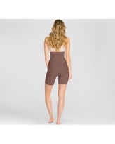 Assets by Spanx Women's Remarkable Results High Waist Midthigh Midtone - Chestnut Brown 1X