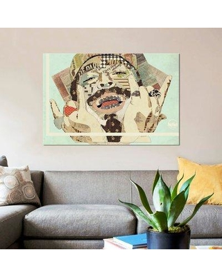 """East Urban Home 'Posty' Graphic Art Print on Canvas ESUI1487 Size: 12"""" H x 18"""" W x 0.75"""" D"""