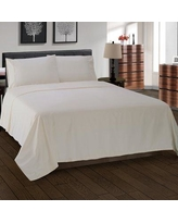 The Twillery Co. Cullen 300 Thread Count Solid 100% Egyptian-Quality Cotton Sheet Set CHMB1430 Color: Ivory Size: California King