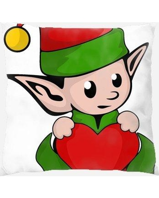 The Holiday Aisle Petrucci Elf Indoor/Outdoor Canvas Throw Pillow W001284819