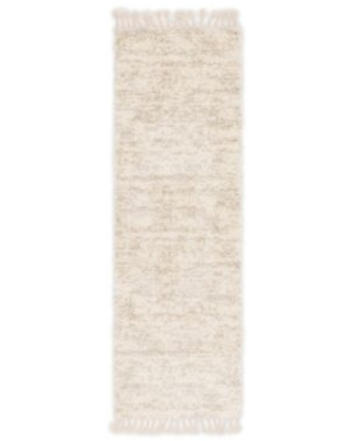 Unique Loom Misty 3' x 8' Runner Rug in Ivory