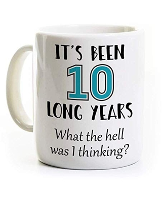 Find Savings On 10th Work Anniversary Coffee Mug 10 Long Years Personalized