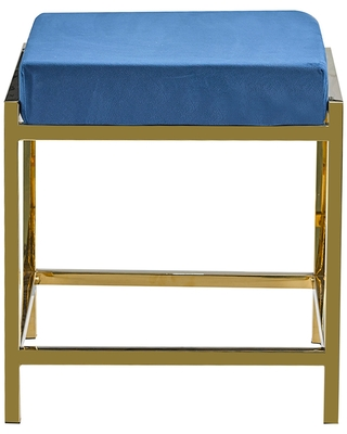 Porthos Home Kes Accent Bench/Stool, Gold Stainless Steel & Suede (Stainless Steel - Suede)