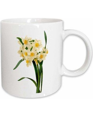 East Urban Home Redoute Vintage Watercolor Floral Narcissus Tazetta Coffee Mug W001075030