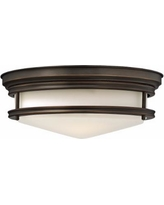 "Hinkley Hadley 14"" Wide Oil-Rubbed Bronze Ceiling Light"