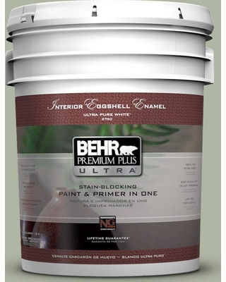 BEHR ULTRA 5 gal. #PPU11-09 Environmental Eggshell Enamel Interior Paint and Primer in One