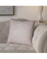 "Lark Manor Chapelle Throw Pillow LARK7100 Size: 20"" H x 20"" W x 4"" D, Color: Grey/Pink"