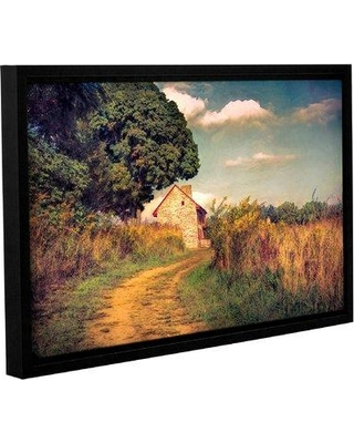 "Charlton Home 'Webb Farm House' Framed Graphic Art Print On Wrppaed Canvas CHRL2841 Size: 8"" H x 12"" W x 2"" D"