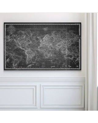 """Wexford Home 'Vintage Wold Map V' Graphic Art Print HAC17 Size: 30"""" H x 40"""" W x 1.5"""" D Format: Wrapped Canvas"""