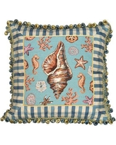 """123 Creations Under the Sea Wool Throw Pillow C701.18x18"""""""