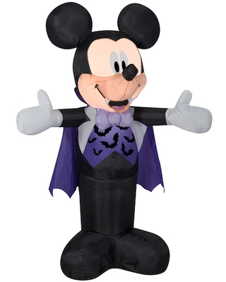3.5Ft Airblown® Inflatable Disney Mickey in Vampire Costume By Gemmy Industries | Michaels®